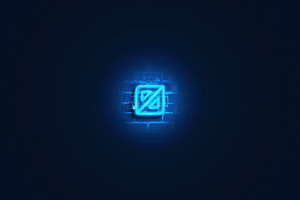 Neon Design Glowing Logo 5k Wallpaper