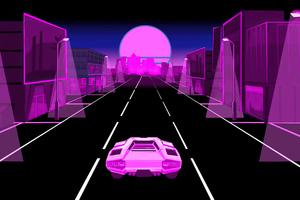 Neon Dream Lamborghini 5k Wallpaper