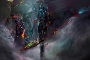Neon Genesis Evangelion 12k Wallpaper