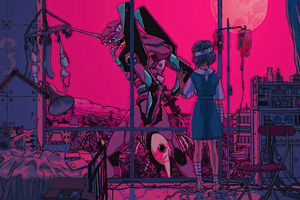 Neon Genesis Evangelion Bye My Friend 4k