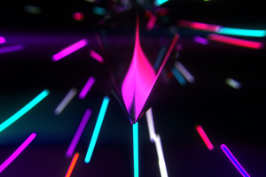 Neon Glow Abstract Wallpaper