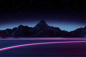 Neon Highway Digital Art