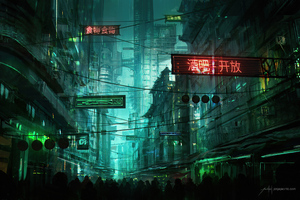 Neon Hong Kong Street 4k Wallpaper