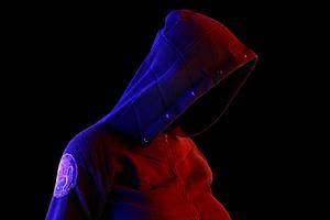 Neon Hoodie Guy