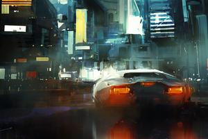 Neon Lamborghini Driver 4k Wallpaper