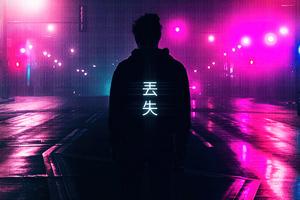 Neon Light Guy 4k Wallpaper