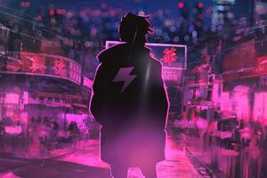 Neon Light Hero 4k Wallpaper