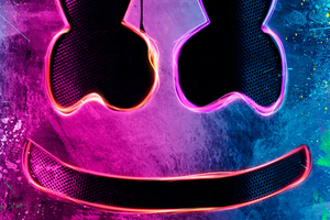 Neon Marshmello Helmet Wallpaper