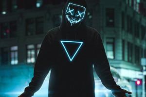 Neon Mask Boy 4k