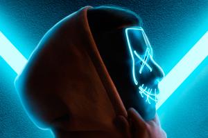 Neon Mask Guy Hoodie