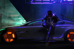 Neon Ride And Rider 4k Wallpaper