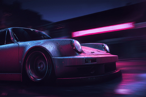 Neon Rush Porsche 911 Carrera RSR Wallpaper