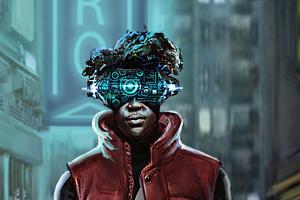 Neon Scifi Cyberpunk Alley