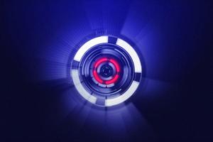 Neon Sphere Red Blue Purple 4k Wallpaper