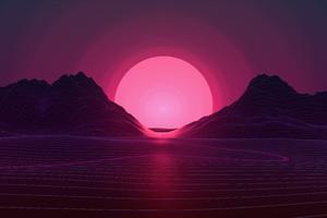 Neon Sunset 4k Wallpaper