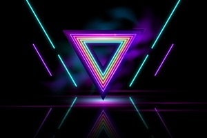 Neon Triangle Abstract 8k Wallpaper