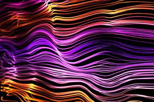 Neon Waves Abstract 5k Wallpaper