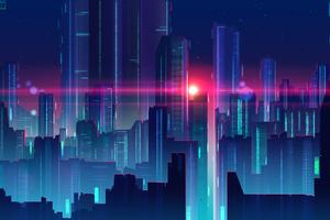 Neonglow City Art