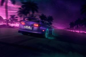 NeonNight Toyota Supra 4k Wallpaper