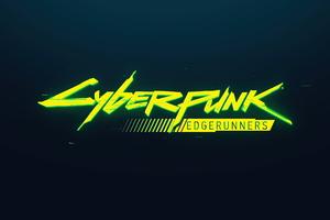 Netflix Cyberpunk Edgerunners Logo Wallpaper