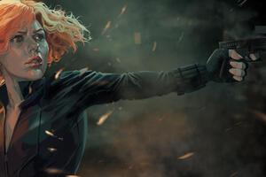 New Artwork Black Widow Wallpaper