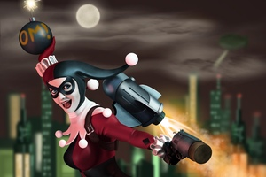 New Harley Quinn Art Wallpaper