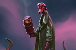New Hellboy Art Wallpaper