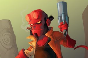 New Hellboy Artwork Wallpaper