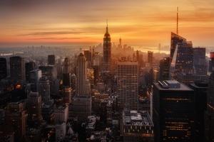 New York City Evening Time