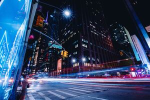 New York City Street Long Exposure