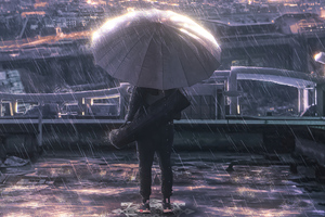 New York Rains Wallpaper