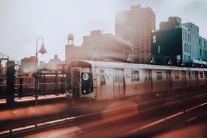 New York Subway Train 4k