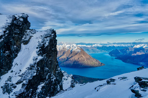 New Zealand Queenstown Mountain Range Lake 8k Wallpaper