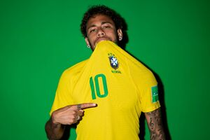 Neymar Jr Brazil Portraits 2018 Wallpaper