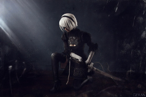 Nier Automata A2 Art Wallpaper