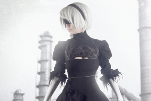 Nier Automata Monochrome Wallpaper