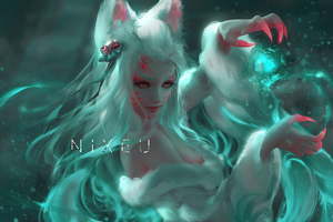 Night Blossom Fantasy Girl 4k