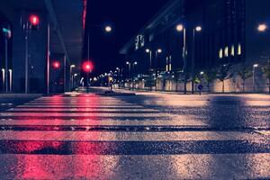 Night City Lights Street 4k