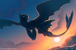 Night Fury Toothless 4k