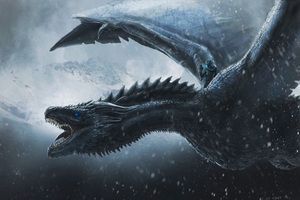 Night King Dragon 4k Wallpaper