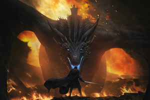 Night King Dragon Vs Jon Snow 4k Wallpaper