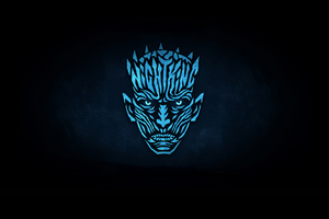 Night King Minimalist Logo 4k