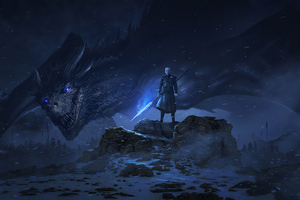 Night King With His Dragon