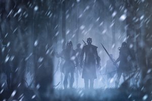 Night King With White Walkers Artwork Wallpaper