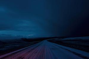 Night Road Sky Dark 4k Wallpaper