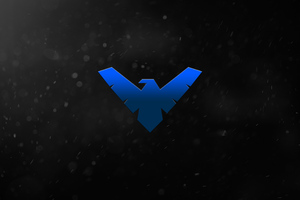 Night Wing Logo 5k Wallpaper