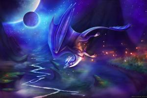 Nightlight Dragon Wallpaper