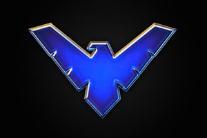 Nightwing Big Logo 4k Wallpaper