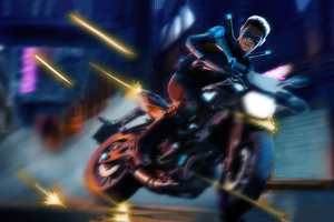 Nightwing Bike 4k