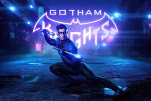 Nightwing Gotham Knight Cosplay 4k Wallpaper